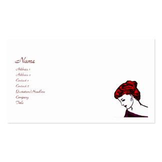 Arte pop del gótico del chica del vampiro plantillas de tarjetas de visita