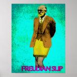 Arte pop del Grunge del resbalón freudiano Meme Poster