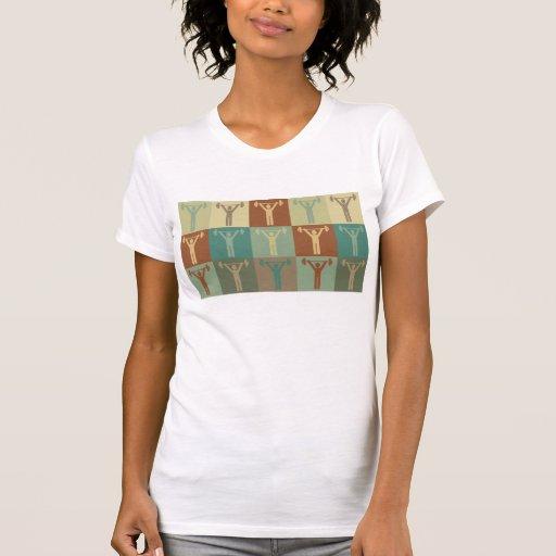 Arte pop del levantamiento de pesas camisetas