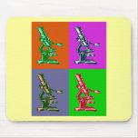 Arte pop del microscopio alfombrillas de ratón
