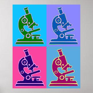 Arte pop del microscopio impresiones