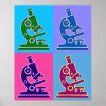 Arte pop del microscopio póster