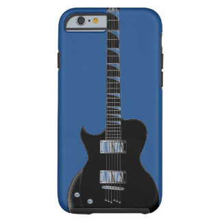 Arte pop del negro azul de la guitarra eléctrica funda para iPhone 6 tough