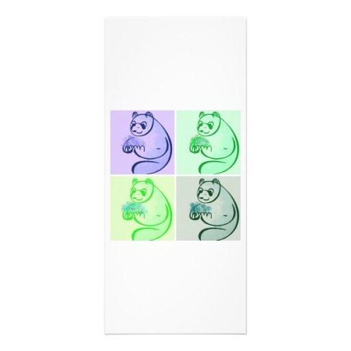 Arte pop del oso de panda diseño de tarjeta publicitaria