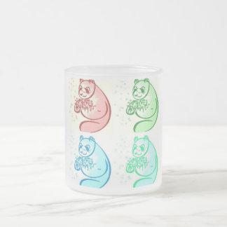 Arte pop del oso de panda taza de cristal
