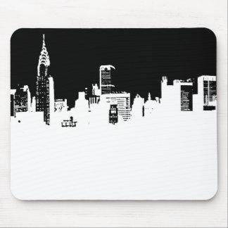 Arte pop del panorama de New York City Mousepad