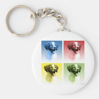 Arte pop del perro de aguas de Bretaña Llaveros Personalizados