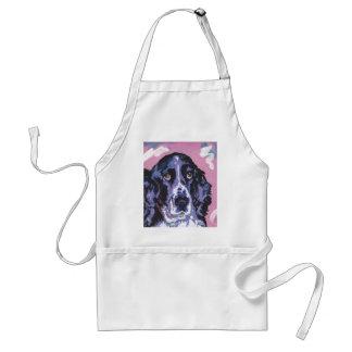 arte pop del perro de aguas de saltador delantal