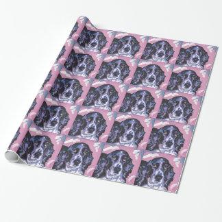 arte pop del perro de aguas de saltador papel de regalo