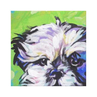 Arte pop del perro de Shi Tzu en lona estirada Impresiones En Lona