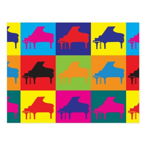 Arte pop del piano postales