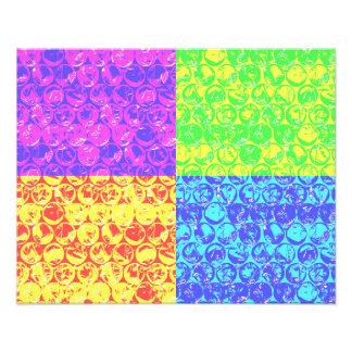 Arte pop del plástico de burbujas del arco iris fotografías