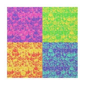 Arte pop del plástico de burbujas del arco iris impresión en madera