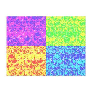 Arte pop del plástico de burbujas del arco iris impresiones en lienzo estiradas