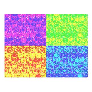Arte pop del plástico de burbujas del arco iris postales