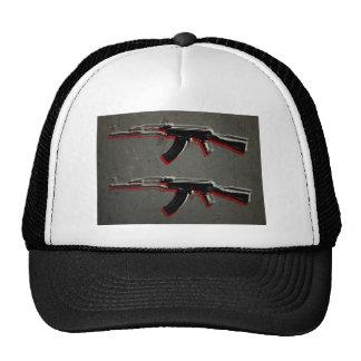 Arte pop del rifle de asalto de AK47 Gorras De Camionero