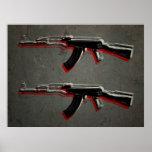 Arte pop del rifle de asalto de AK47 Posters