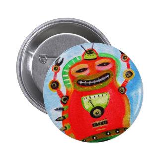 ARTE POP del ROBOT Pin Redondo De 2 Pulgadas