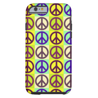 Arte pop del signo de la paz funda resistente iPhone 6