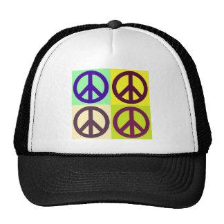 Arte pop del signo de la paz gorro