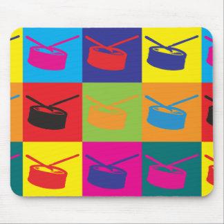 Arte pop del tambor tapetes de ratón
