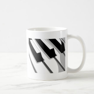 Arte pop del teclado de piano taza