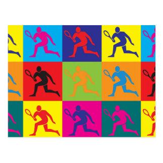 Arte pop del tenis tarjeta postal