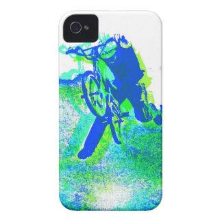 Arte pop del truco del estilo libre BMX Case-Mate iPhone 4 Cárcasas