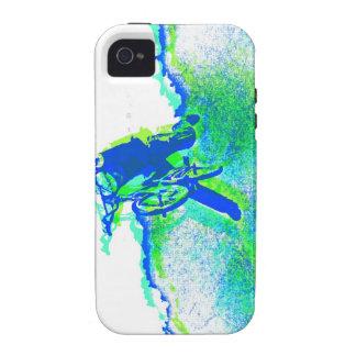 Arte pop del truco del estilo libre BMX Case-Mate iPhone 4 Funda