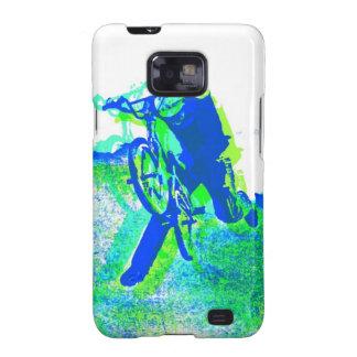 Arte pop del truco del estilo libre BMX Samsung Galaxy S2 Carcasas
