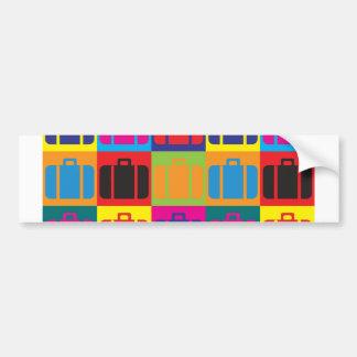 Arte pop del viaje pegatina para auto