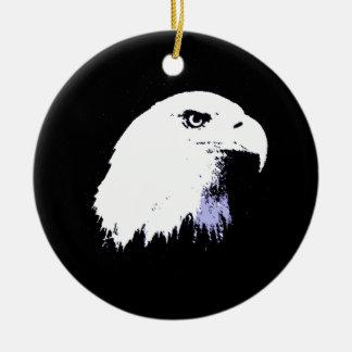 Arte pop Eagle calvo Adorno Navideño Redondo De Cerámica