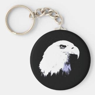 Arte pop Eagle calvo Llavero Redondo Tipo Pin