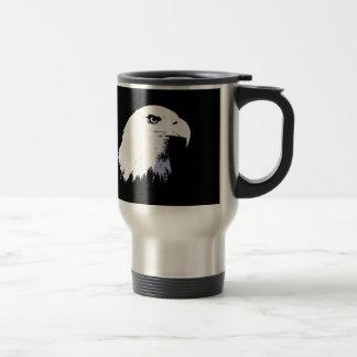 Arte pop Eagle calvo Tazas