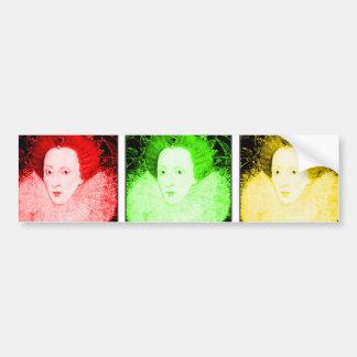 Arte pop Elizabeth I Etiqueta De Parachoque