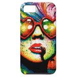 Arte pop en forma de corazón de las gafas de sol d iPhone 5 Case-Mate carcasas