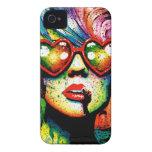 Arte pop en forma de corazón de las gafas de sol d iPhone 4 cobertura