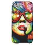 Arte pop en forma de corazón de las gafas de sol funda de iPhone 6 tough