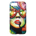 Arte pop en forma de corazón de las gafas de sol funda iPhone 7