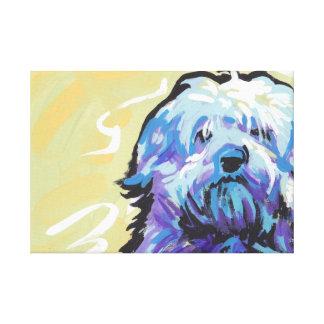 Arte pop envuelto lona del perro de Havanese Impresión En Lona