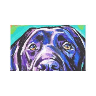 Arte pop envuelto lona negra de Labrador Retreiver