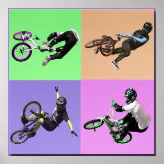 Arte pop extremo de BMX, Copyright Karen J William Póster