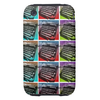 Arte pop fresco de la máquina de escribir para los tough iPhone 3 fundas