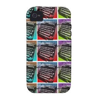 Arte pop fresco de la máquina de escribir para los iPhone 4/4S carcasa
