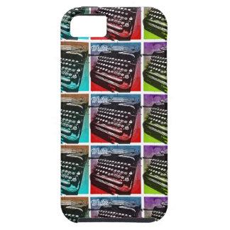 Arte pop fresco de la máquina de escribir para los iPhone 5 Case-Mate carcasa