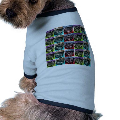Arte pop fresco de la máquina de escribir para los camisetas de perrito