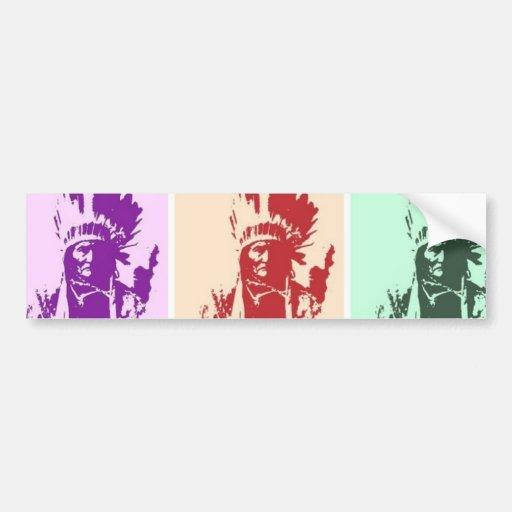 Arte pop Geronimo Etiqueta De Parachoque