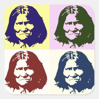Arte pop Geronimo Pegatina Cuadrada