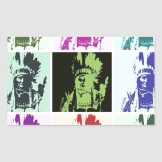 Arte pop Geronimo Pegatina Rectangular