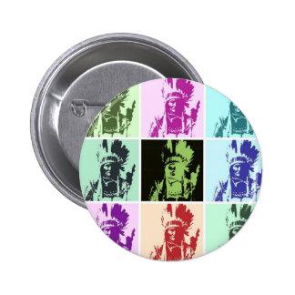 Arte pop Geronimo Pin Redondo 5 Cm